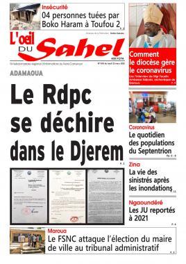 L'oeil du Sahel - 23/03/2020