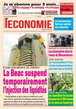 Le Quotidien de l'Economie - 26/03/2020