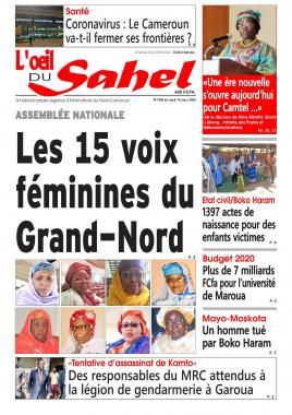 L'oeil du Sahel - 16/03/2020