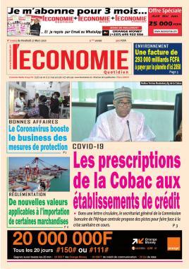 Le Quotidien de l'Economie - 27/03/2020