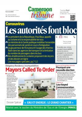 Cameroon Tribune - 24/03/2020