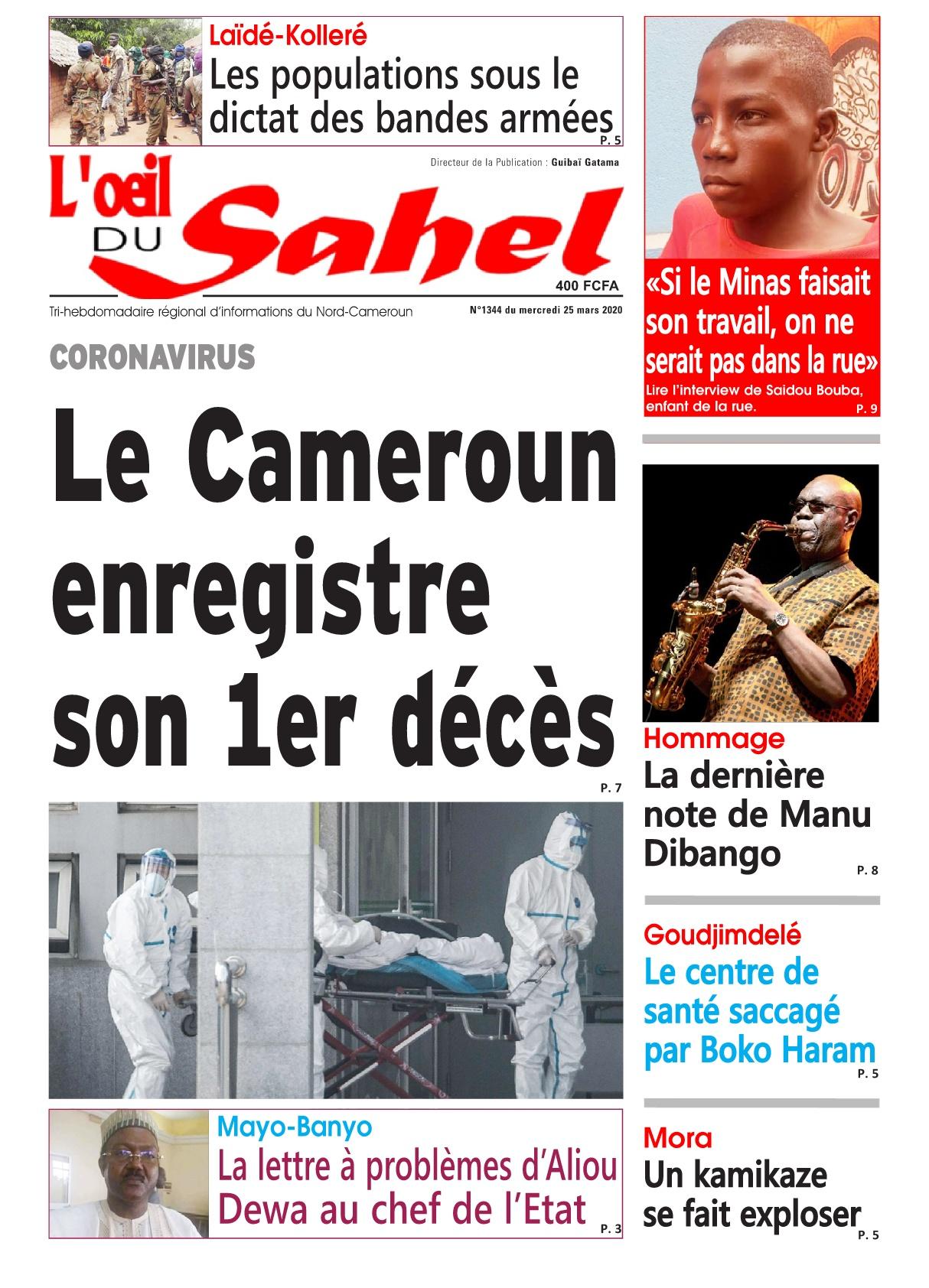 L'oeil du Sahel - 25/03/2020
