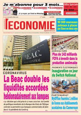 Le Quotidien de l'Economie - 31/03/2020