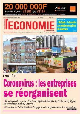 Le Quotidien de l'Economie - 20/03/2020
