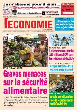 Le Quotidien de l'Economie - 02/04/2020