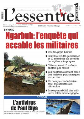 L'essentiel du Cameroun - 22/04/2020