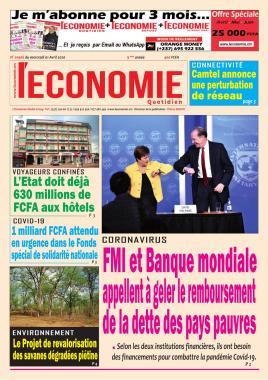 Le Quotidien de l'Economie - 01/04/2020