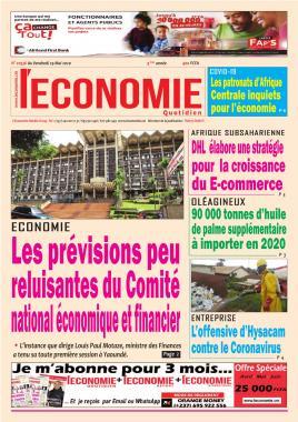 Le Quotidien de l'Economie - 29/05/2020