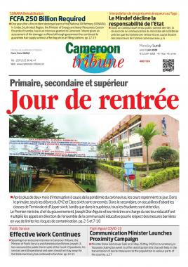 Cameroon Tribune - 01/06/2020