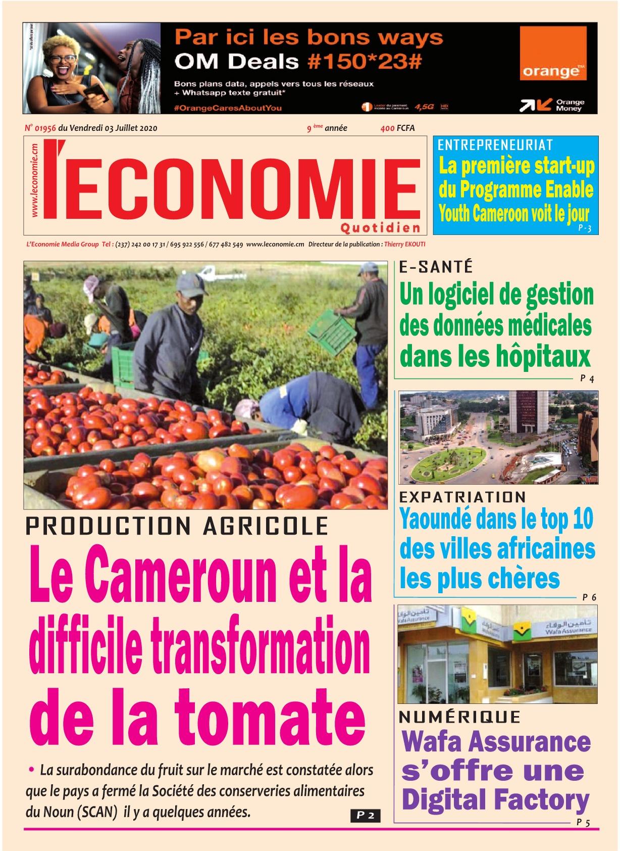 Le Quotidien de l'Economie - 03/07/2020
