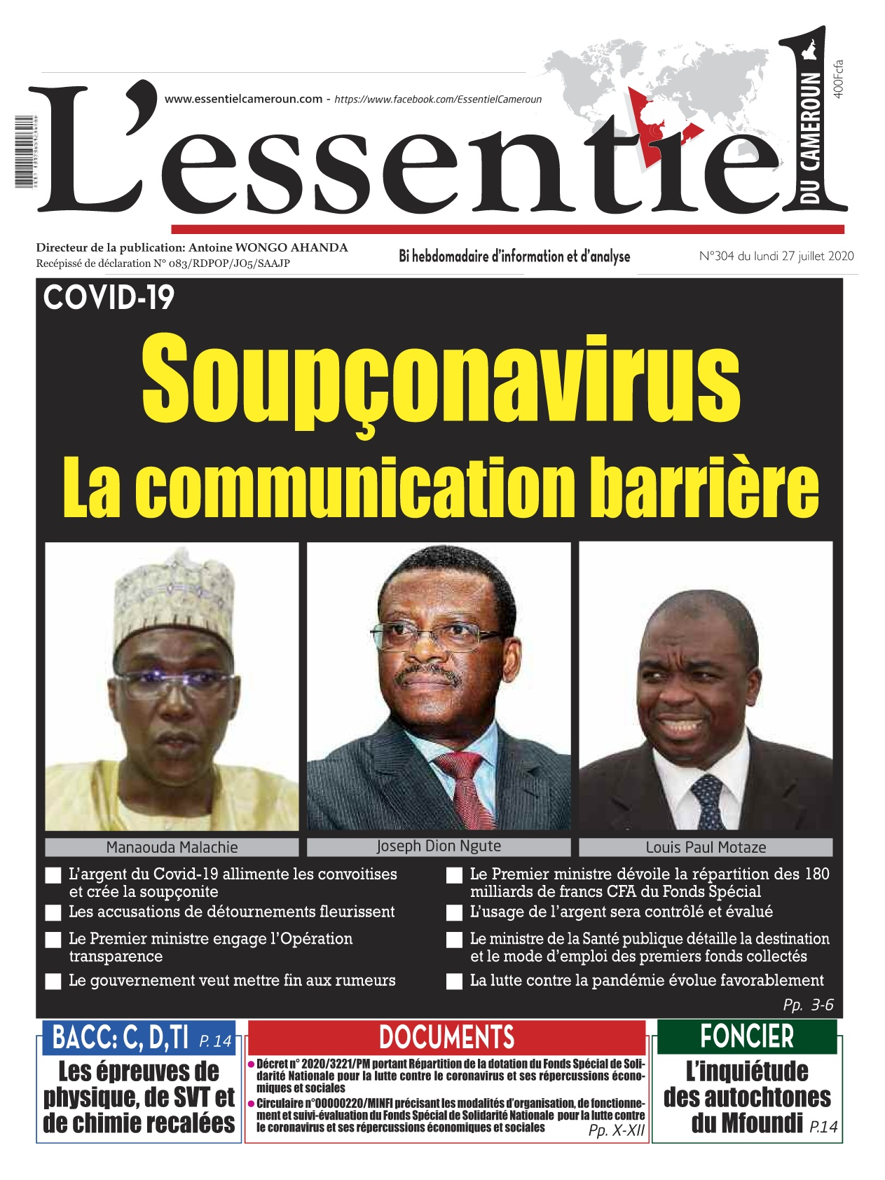 L'essentiel du Cameroun - 27/07/2020