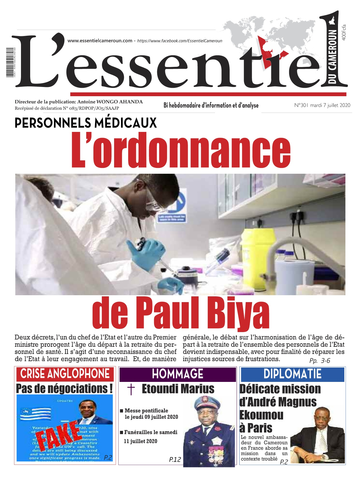 L'essentiel du Cameroun - 07/07/2020