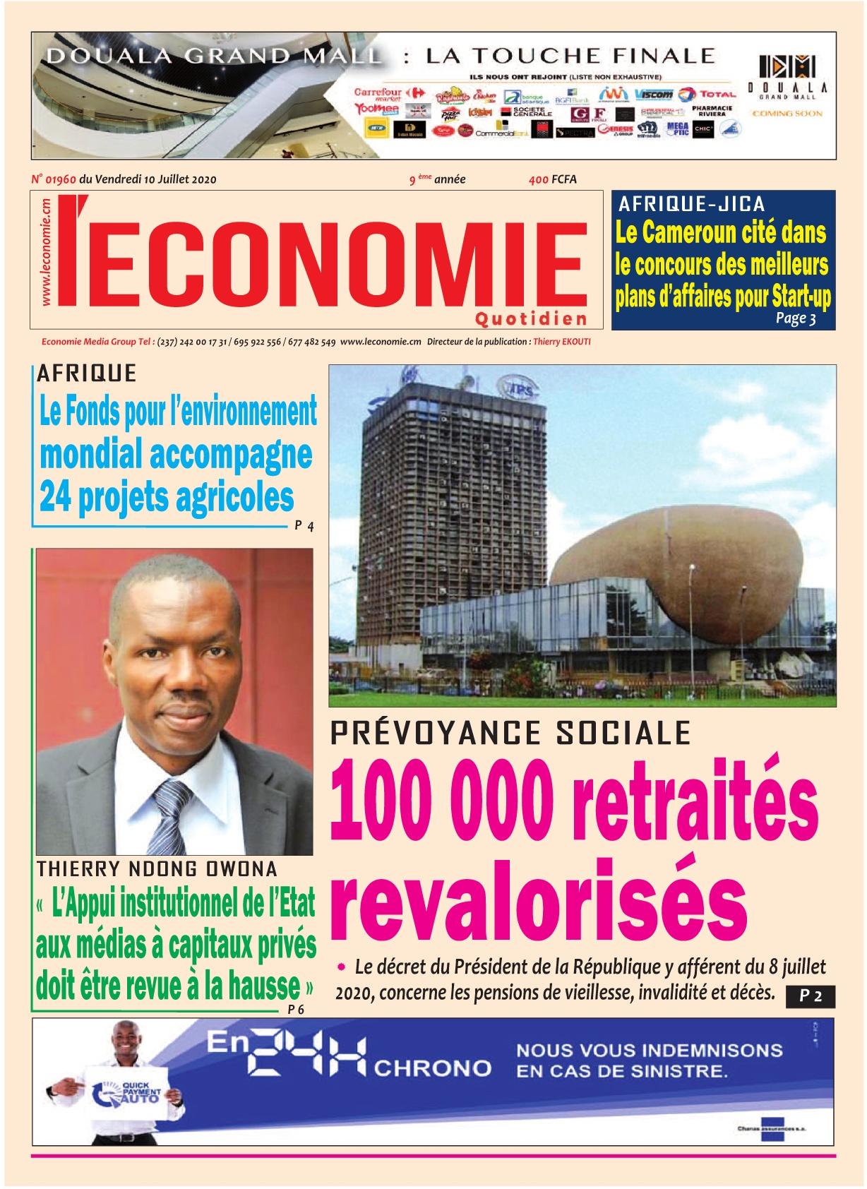 Le Quotidien de l'Economie - 10/07/2020