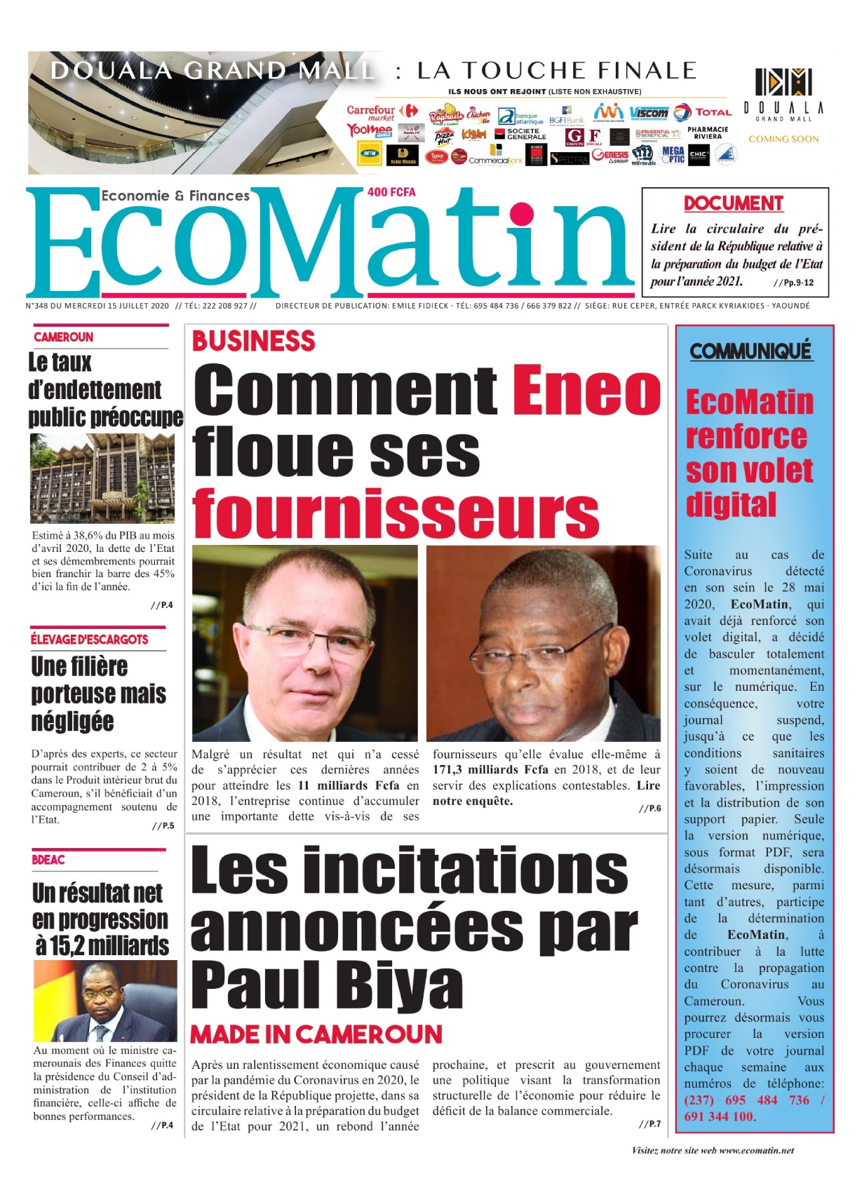 Ecomatin - 15/07/2020