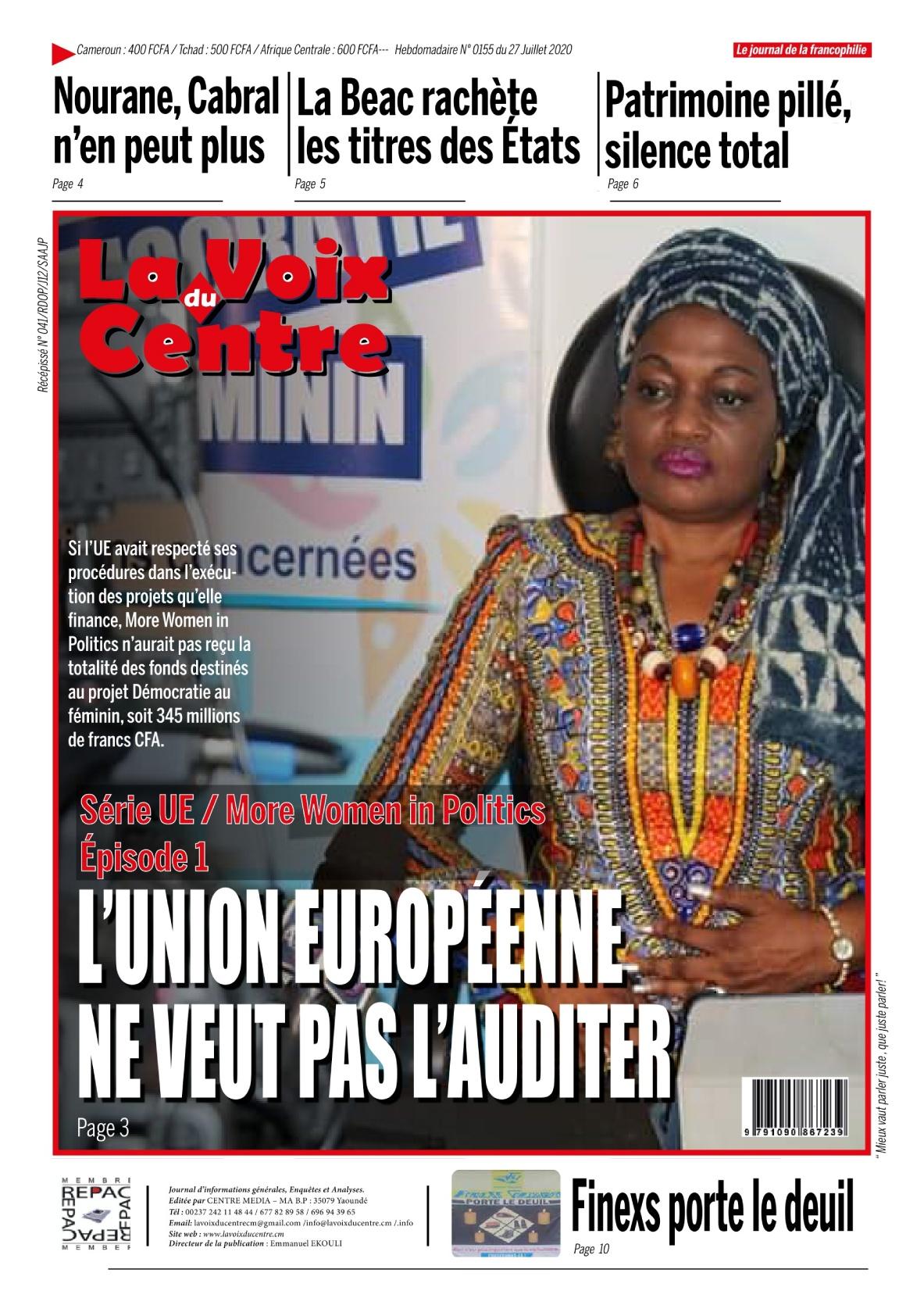 LA VOIX DU CENTRE - 27/07/2020