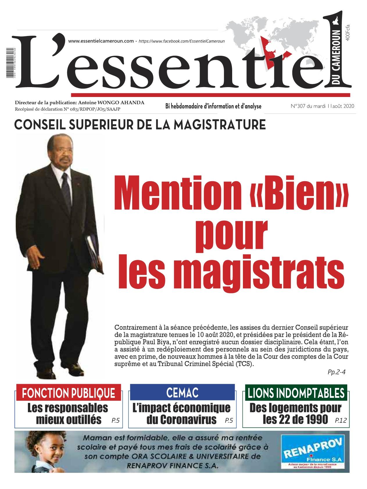 L'Essentiel du Cameroun - 12/08/2020