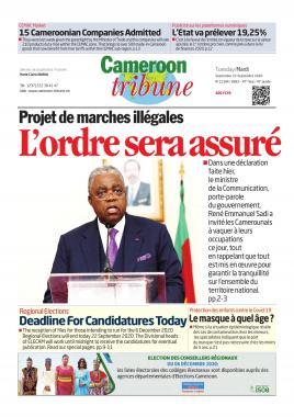 Cameroon Tribune - 22/09/2020