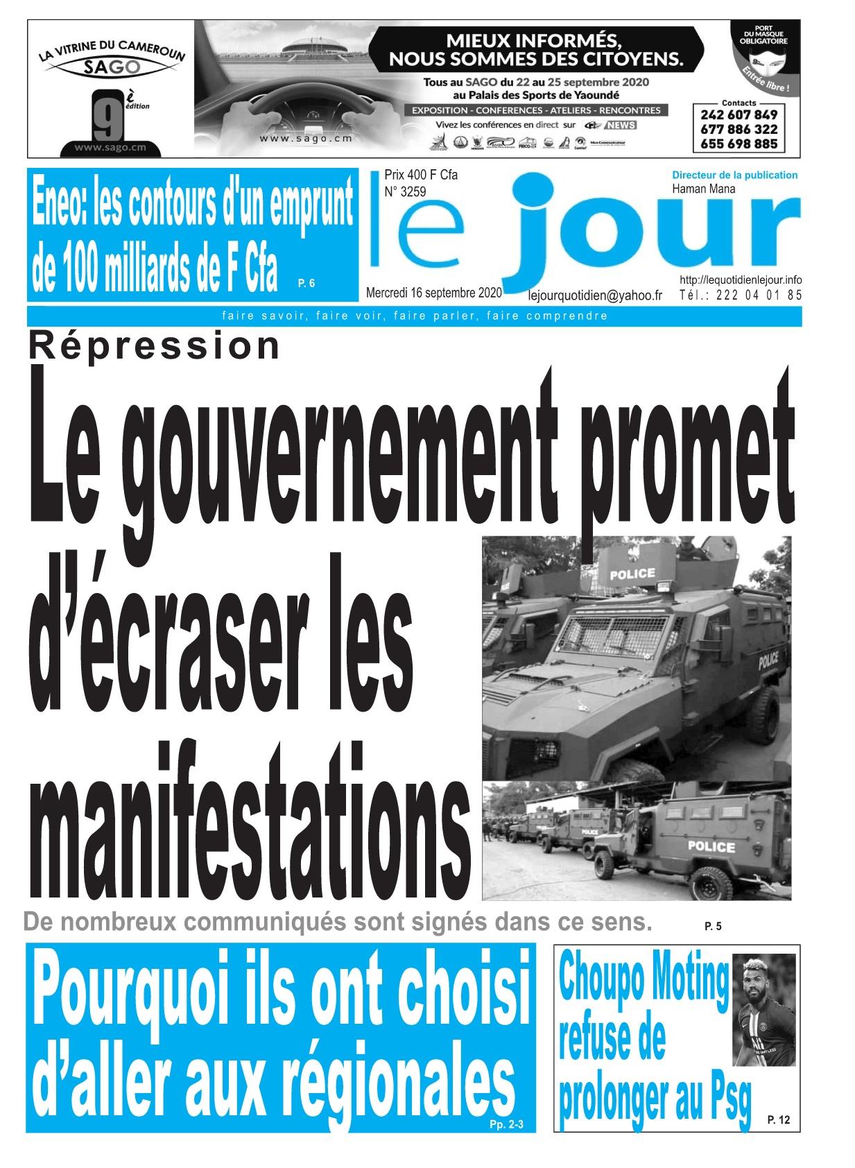 Le Jour - 16/09/2020