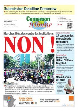 Cameroon Tribune - 21/09/2020