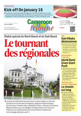 Cameroon Tribune - 11/09/2020