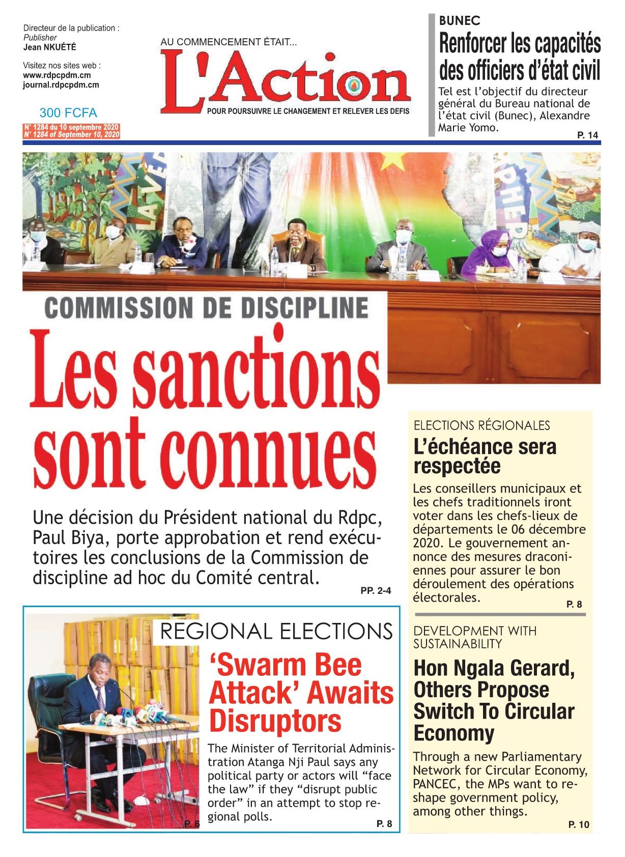 L'Action - 15/09/2020