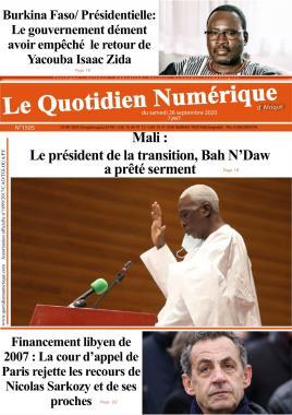 QUOTIDIEN NUMERIQUE DAFRIQUE - 26/09/2020