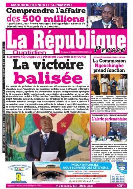 LA REPUBLIQUE PRESSE - 17/09/2020