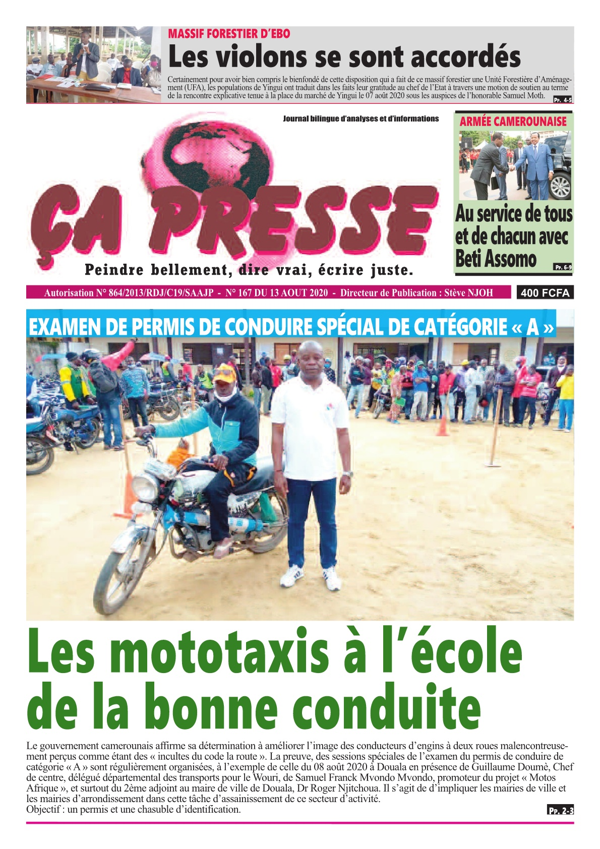 ÇA PRESSE - 03/09/2020