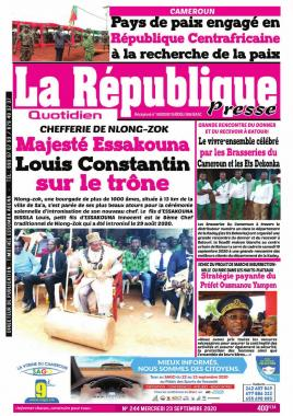 LA REPUBLIQUE PRESSE - 23/09/2020