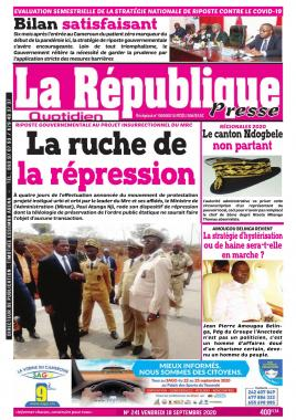LA REPUBLIQUE PRESSE - 18/09/2020