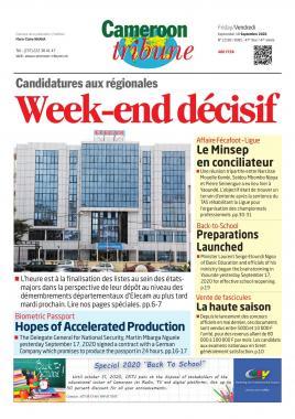 Cameroon Tribune - 18/09/2020