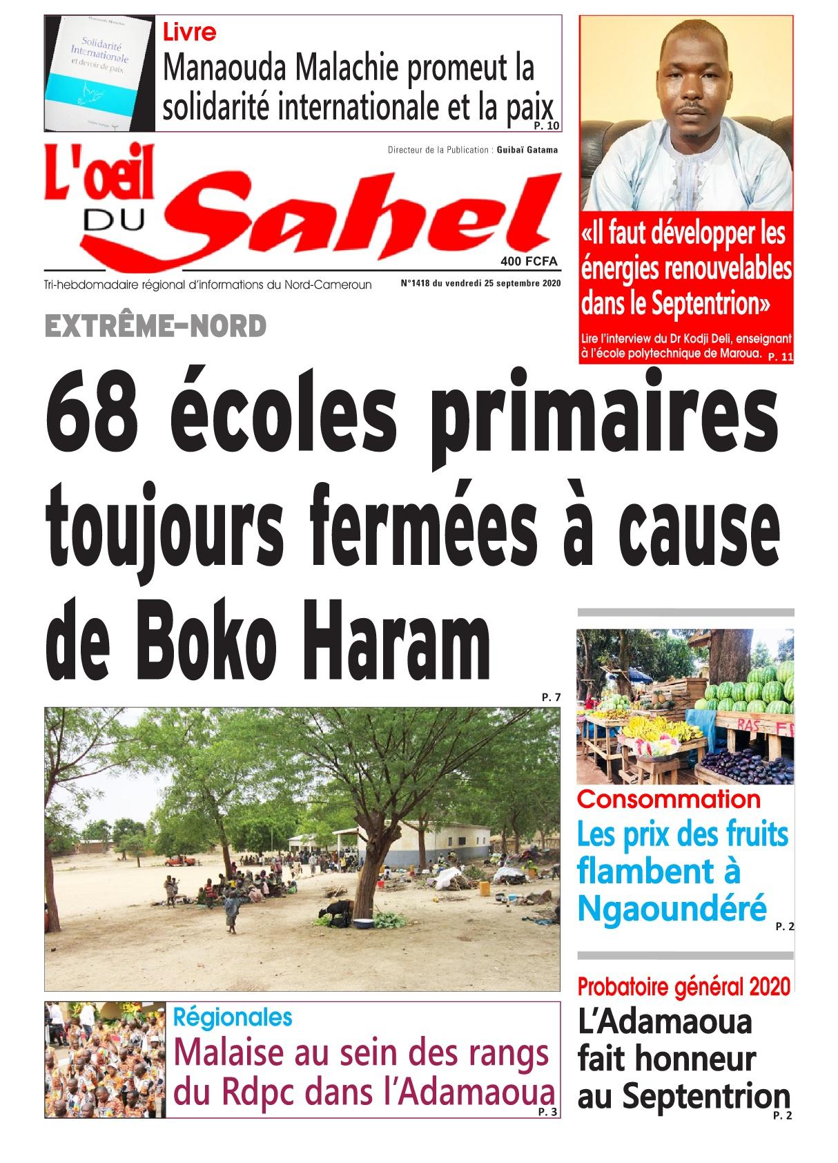 L'oeil du Sahel - 25/09/2020