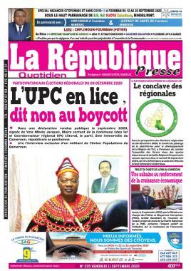 LA REPUBLIQUE PRESSE - 11/09/2020