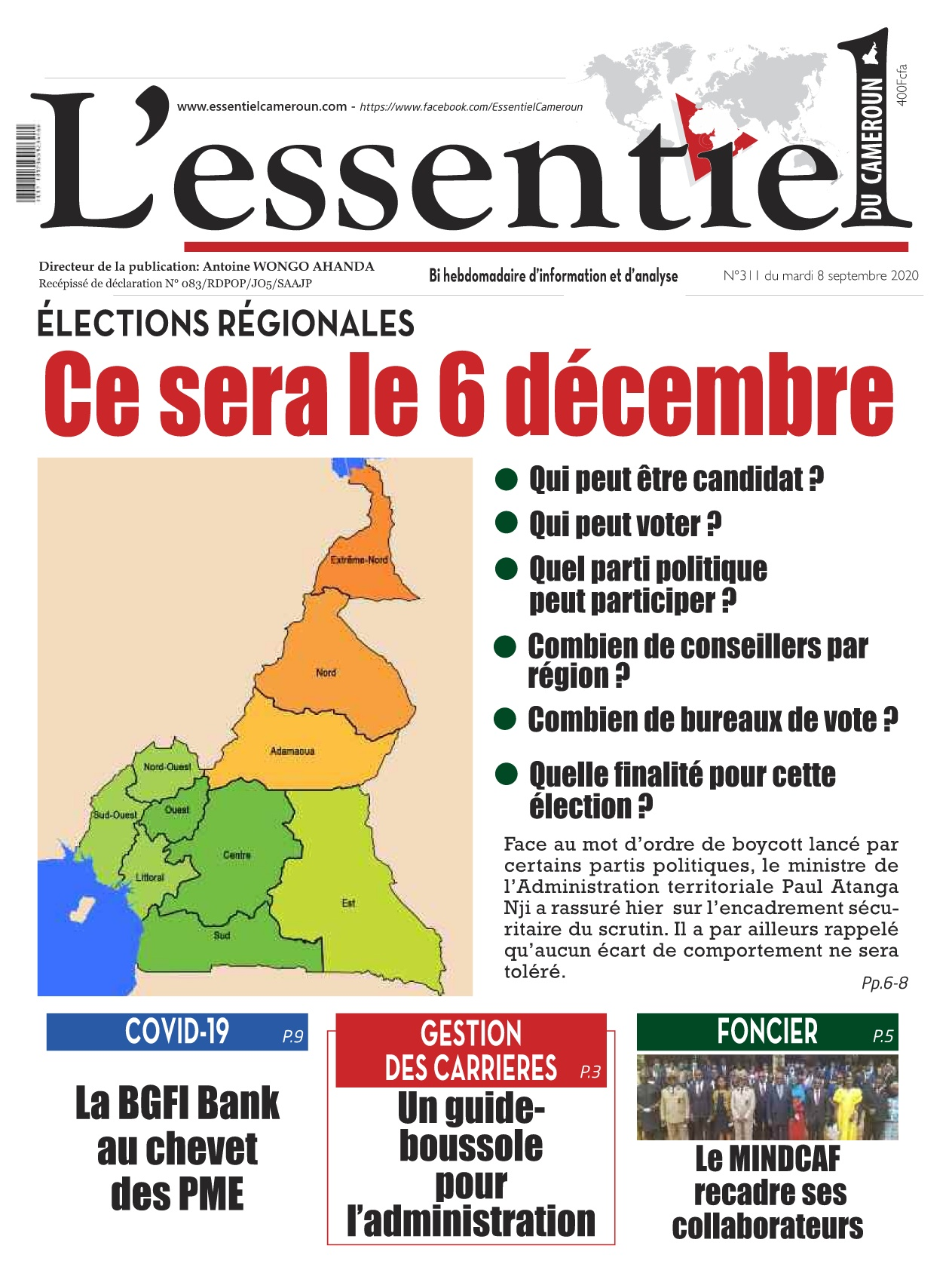 L'essentiel du Cameroun - 08/09/2020