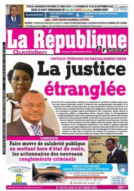 LA REPUBLIQUE PRESSE - 10/09/2020