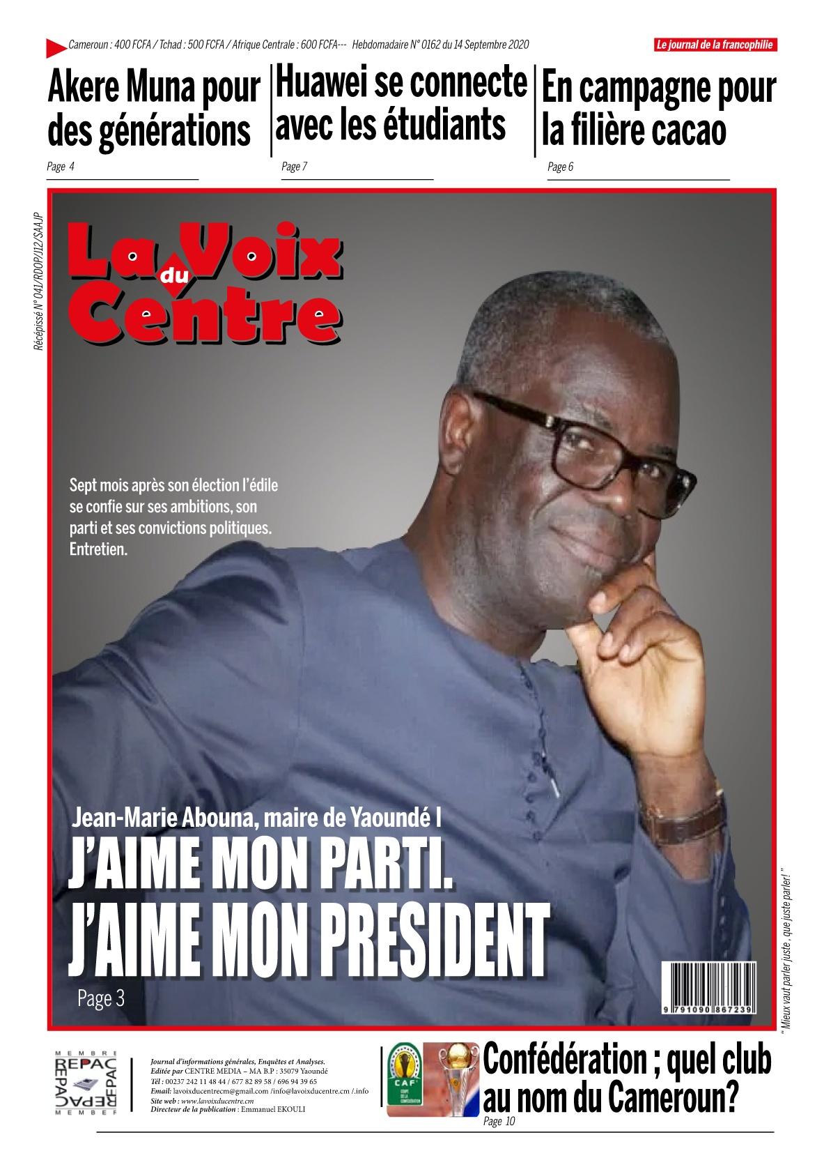 LA VOIX DU CENTRE - 14/09/2020