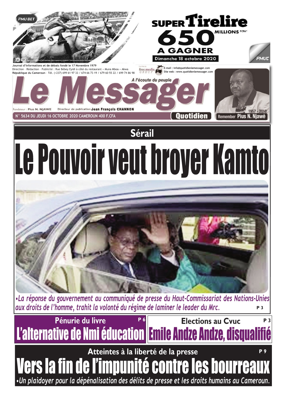 Le Messager - 16/10/2020
