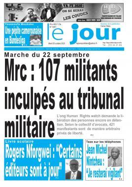 Le Jour - 20/10/2020