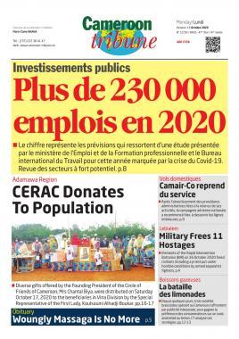 Cameroon Tribune - 19/10/2020
