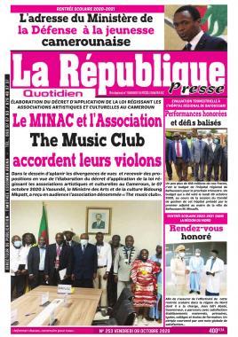 LA REPUBLIQUE PRESSE - 09/10/2020