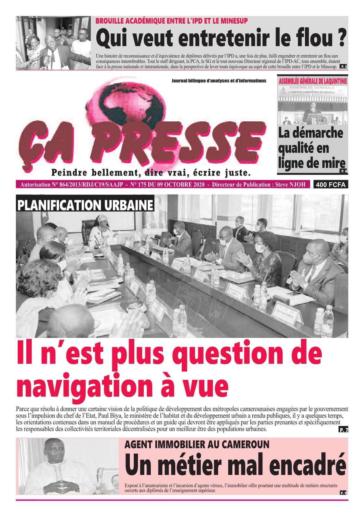 ÇA PRESSE - 09/10/2020