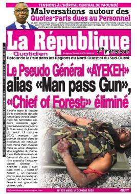 LA REPUBLIQUE PRESSE - 14/10/2020