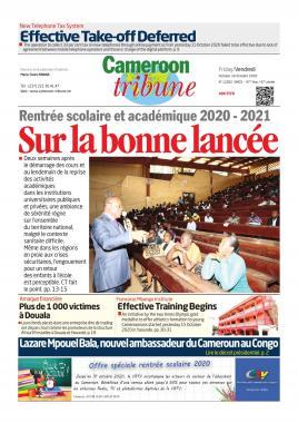 Cameroon Tribune - 16/10/2020