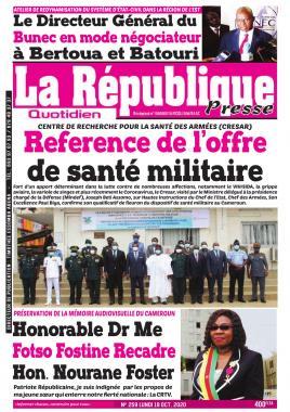 LA REPUBLIQUE PRESSE - 19/10/2020