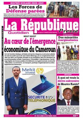 LA REPUBLIQUE PRESSE - 12/10/2020