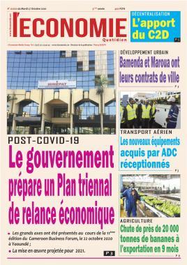 Le Quotidien de l'Economie - 27/10/2020