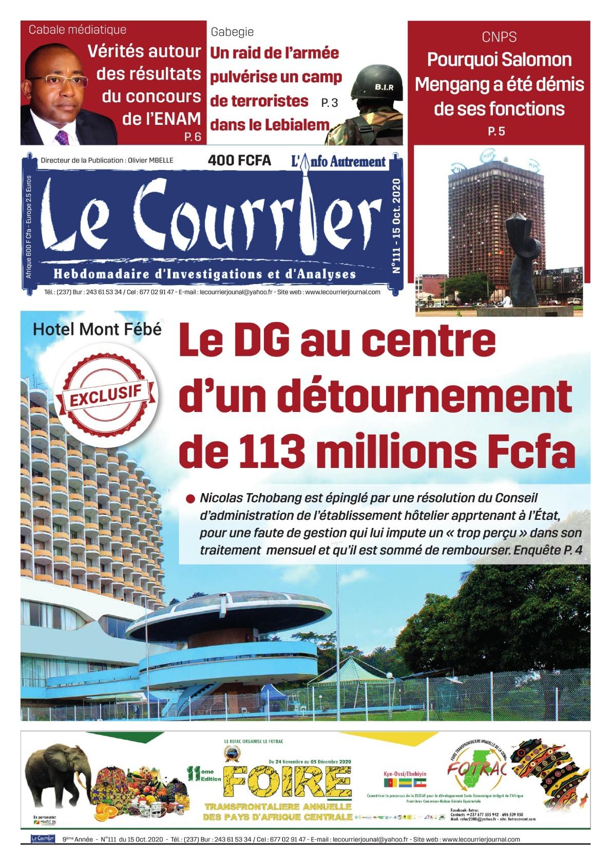 LE COURRIER - 15/10/2020