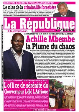 LA REPUBLIQUE PRESSE - 07/10/2020
