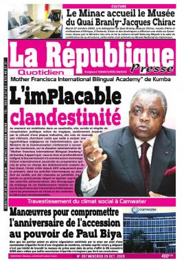 LA REPUBLIQUE PRESSE - 29/10/2020