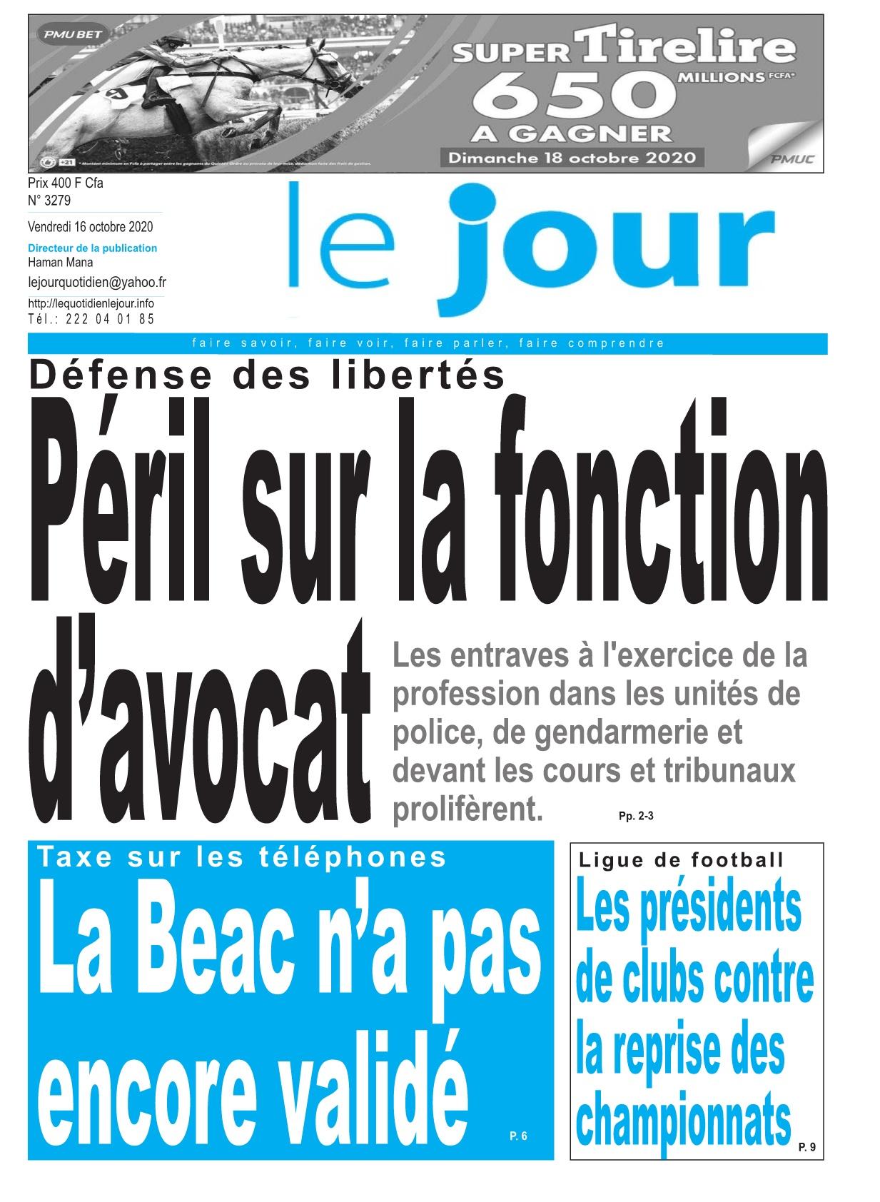 Le Jour - 16/10/2020